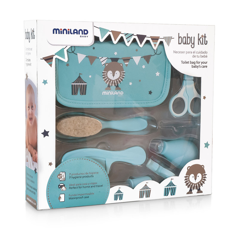 Kit Cuidado del Bebé Kit, en azul.
