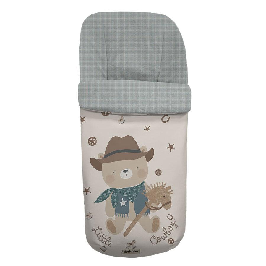 Saco polipiel cowboy cuadritos gris