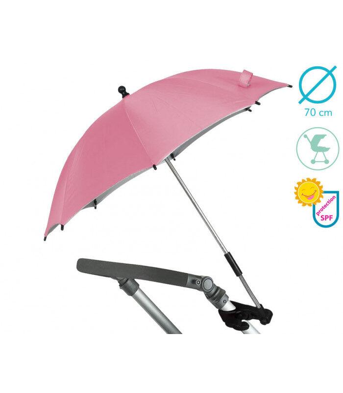 Sombrilla para carrito en rosa