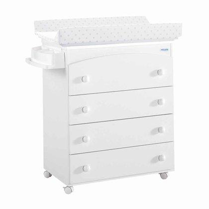 Mueble Bañera/Cambiador Micuna blanco/Estrellas gris