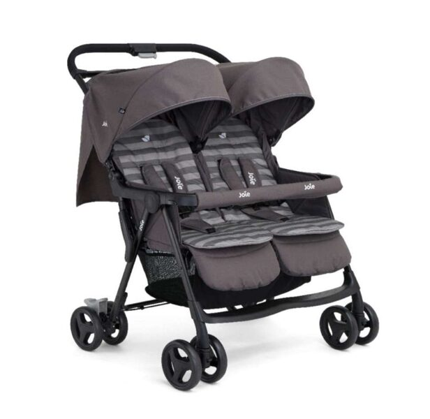 Silla de Paseo Gemelar Joie Aire Twin Gris Rayas